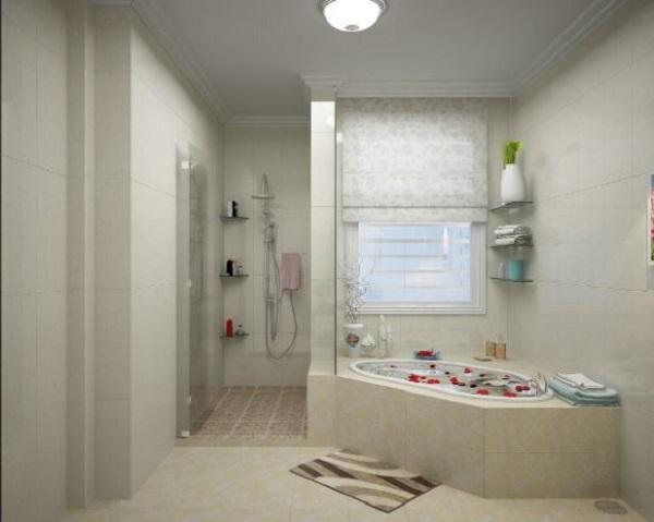 thiết kế phòng tắm đơn giản